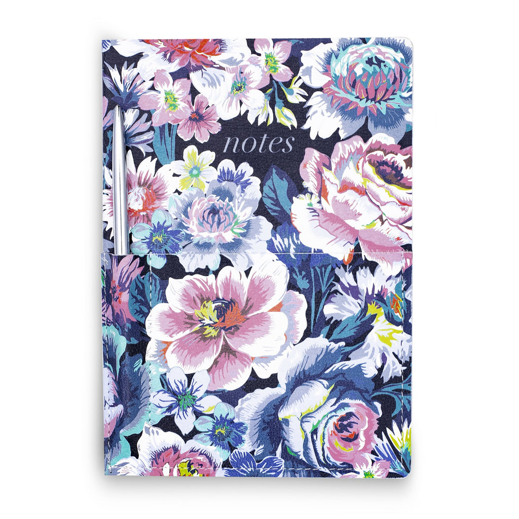 vera bradley journal with pocket, garden grove