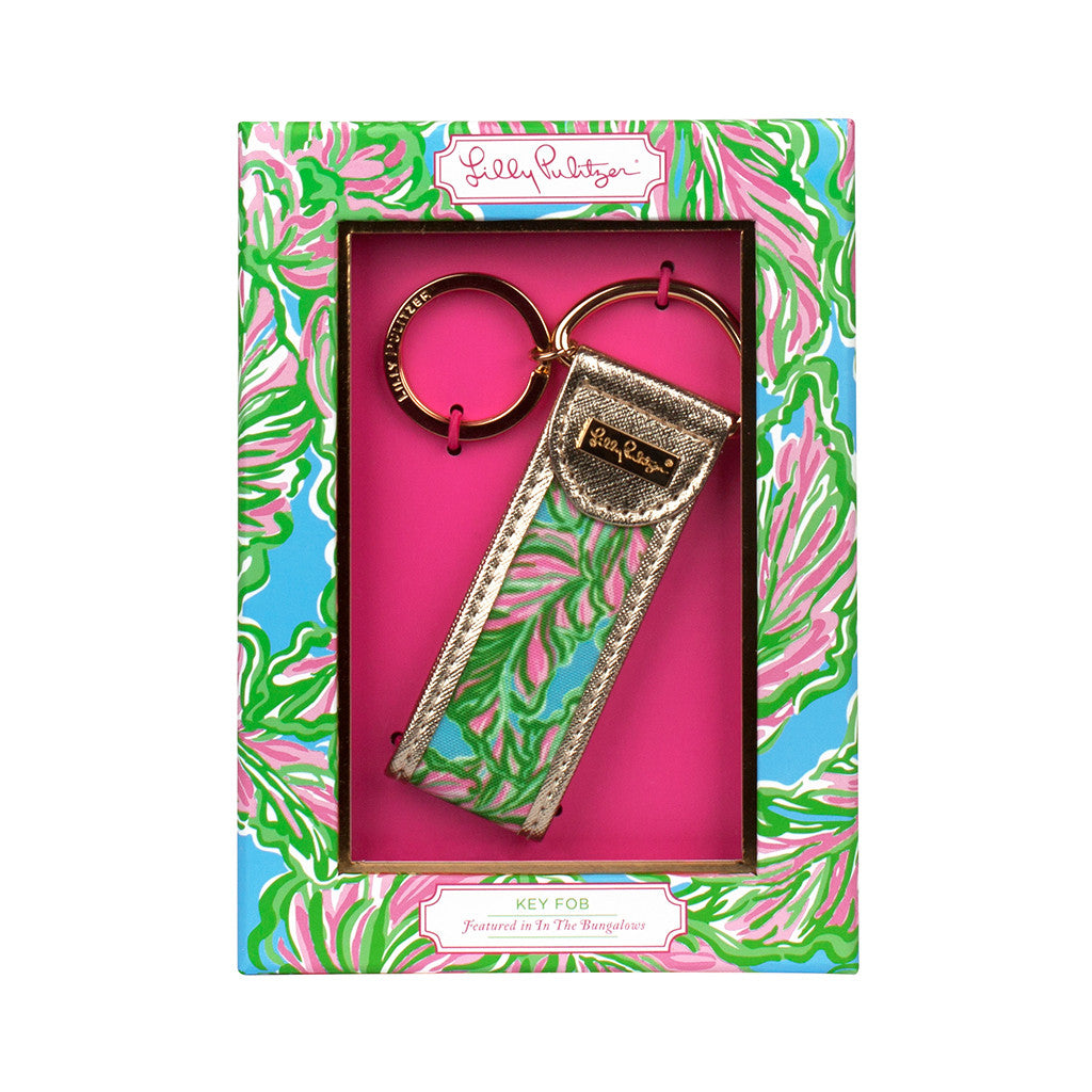 Keychain - Lilly Pulitzer Key Fob - In The Bungalows