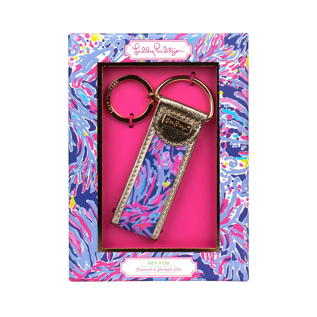 Lilly Pulitzer Key Fob - Shrimply Chic - lifeguard-press