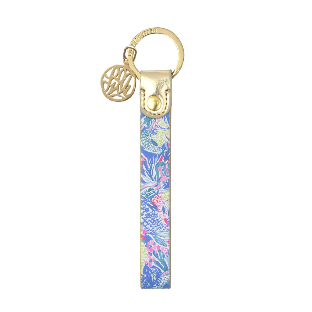 Lilly Pulitzer Strap Keyfob, Mermaids cove