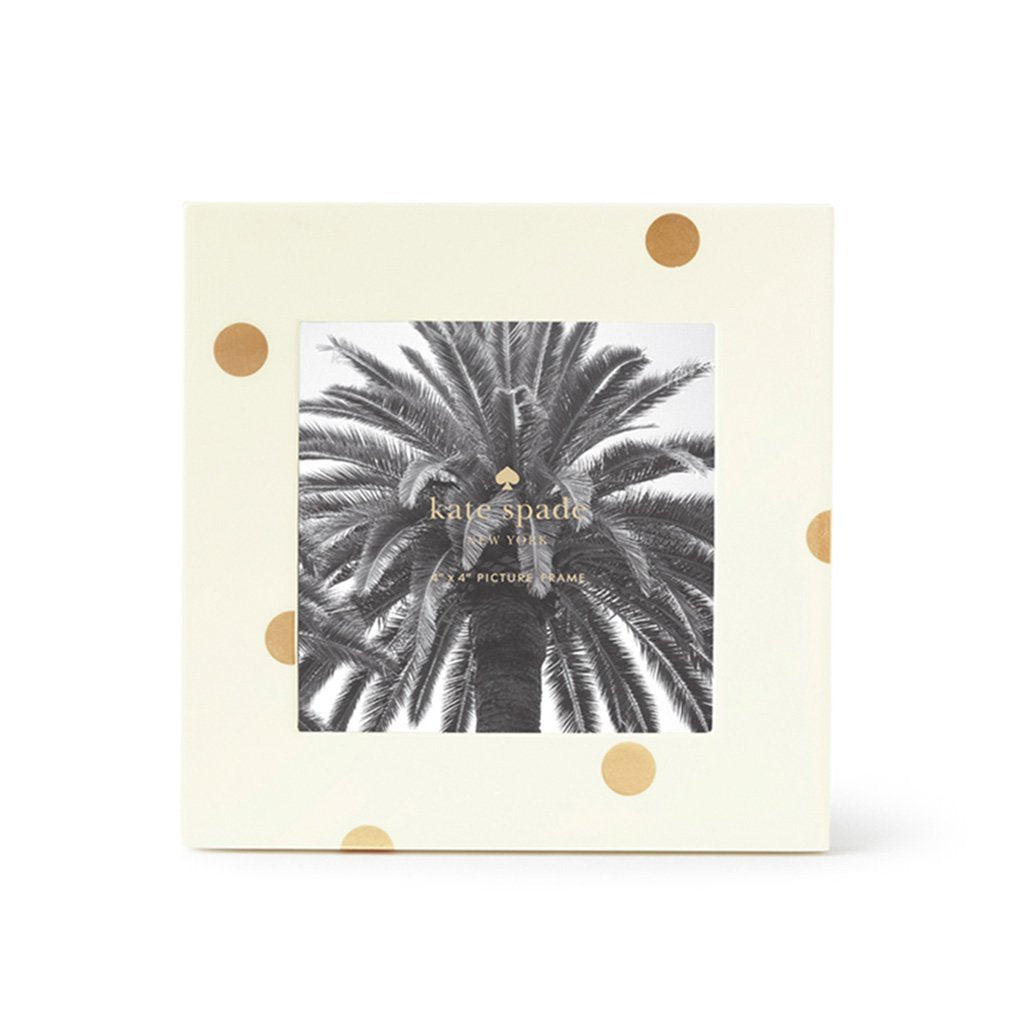 Kate Spade New York 4x4 Lacquer Picture Frame Gold Scatter Dot