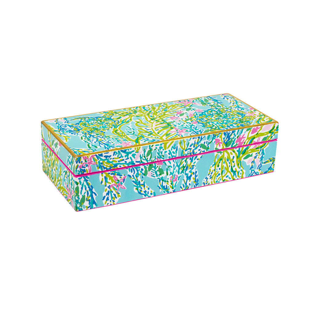Lilly Pulitzer Medium Lacquer Box - Blue Heaven - lifeguard-press