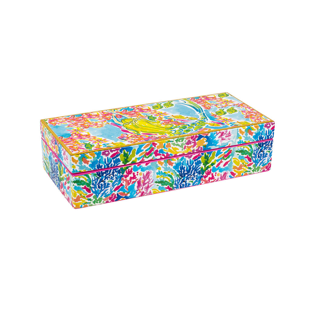 Lilly Pulitzer Medium Lacquer Box - Mermaid - lifeguard-press