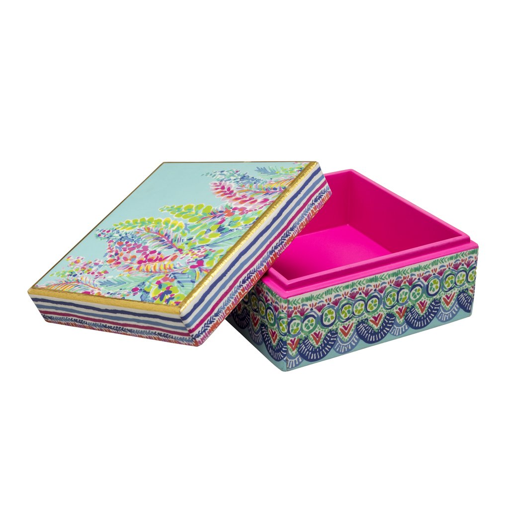 Lilly Pulitzer Lacquer Box - Catch The Wave