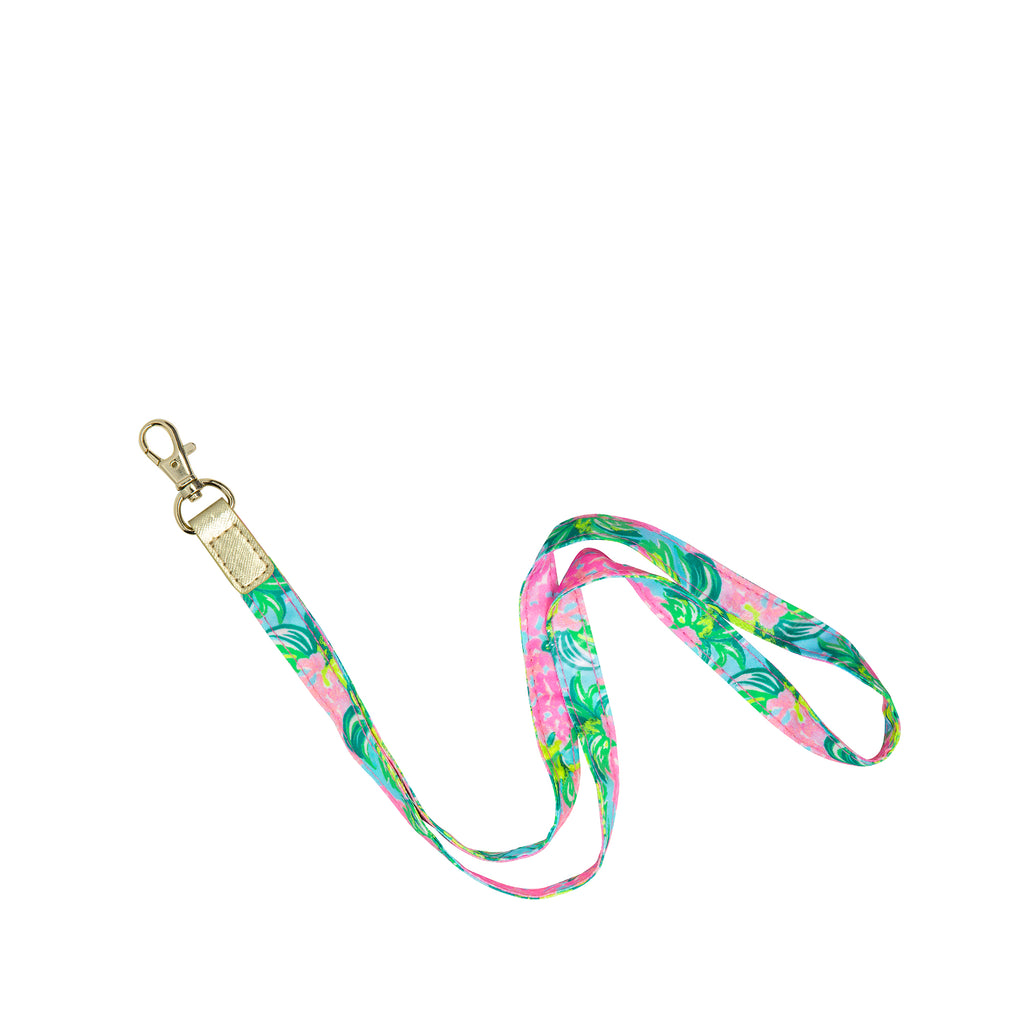 Lilly Pulitzer Lanyard, Pineapple Shake