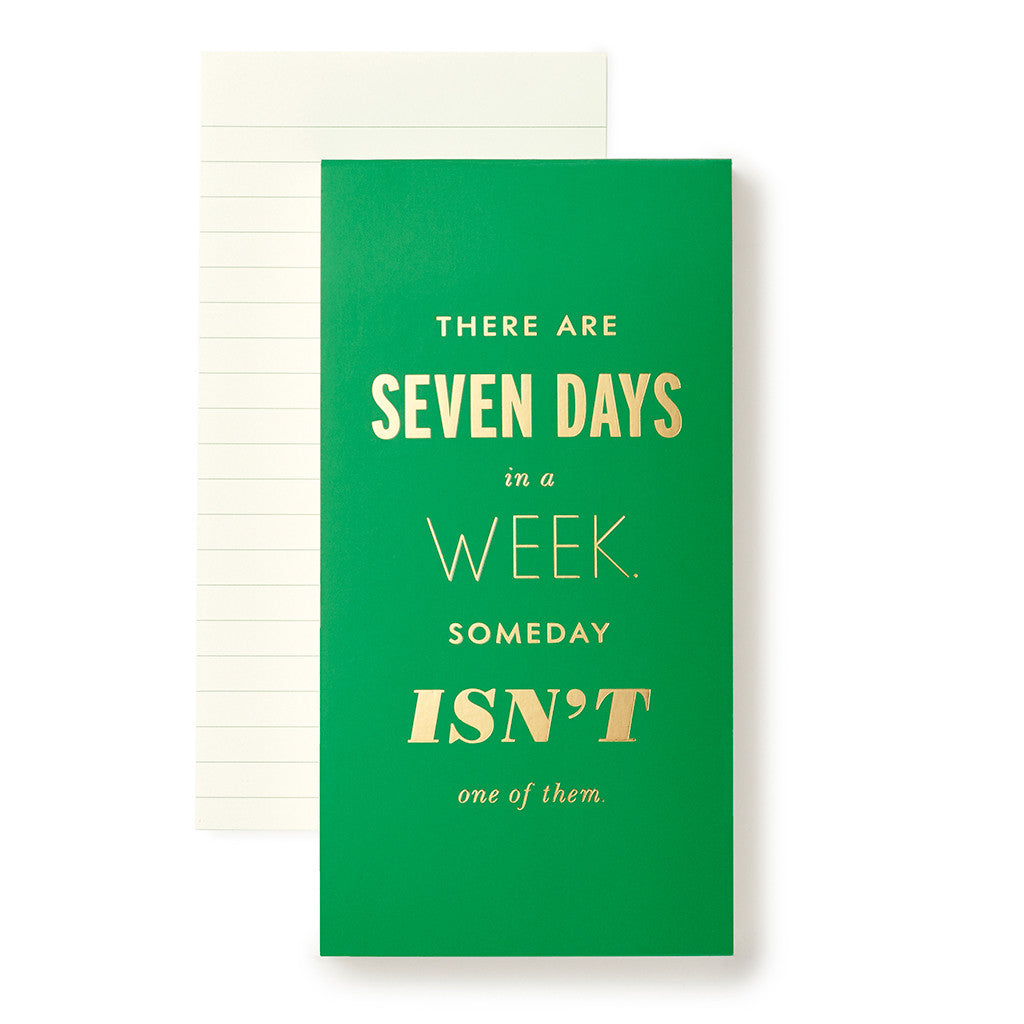 kate spade new york large notepad - seven days a week - lifeguard-press