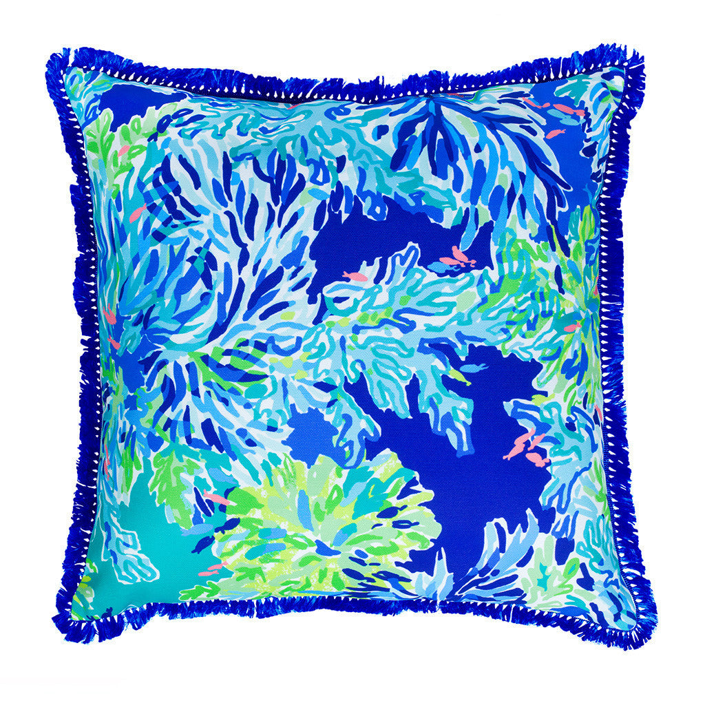 Lilly Pulitzer Large Pillow, Wade and Sea