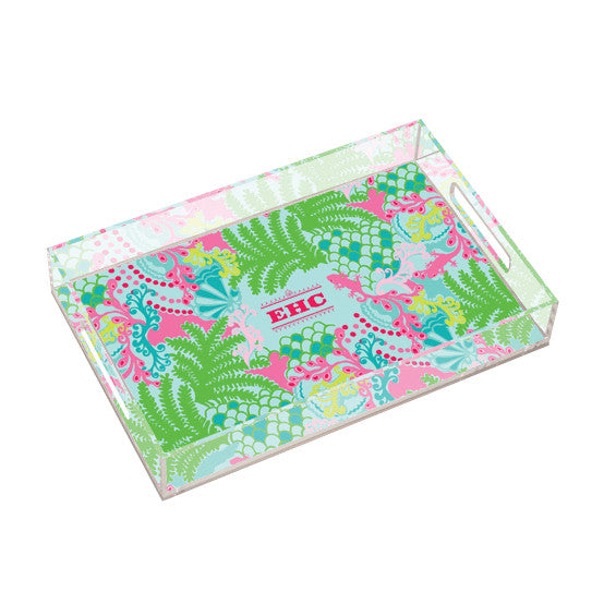 Lilly Pulitzer Personalized Large Tray - Checking In - lifeguard-press