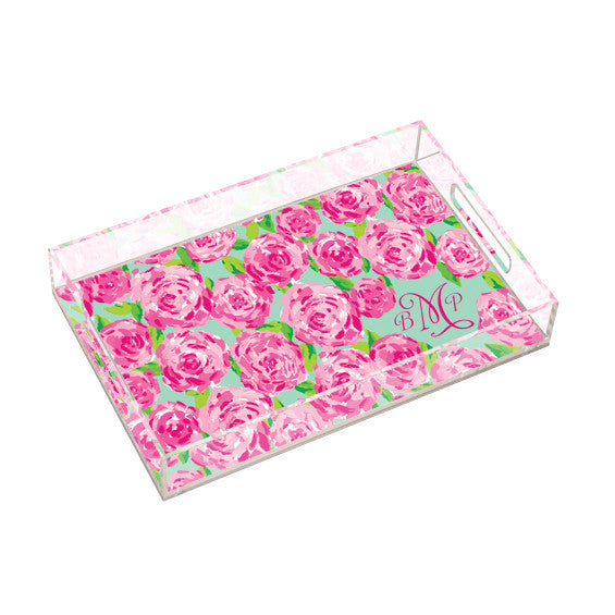 Lilly Pulitzer Personalized Large Tray - First Impression - lifeguard-press
