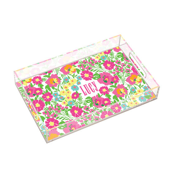 Lilly Pulitzer Personalized Large Tray - Garden by the Sea - lifeguard-press