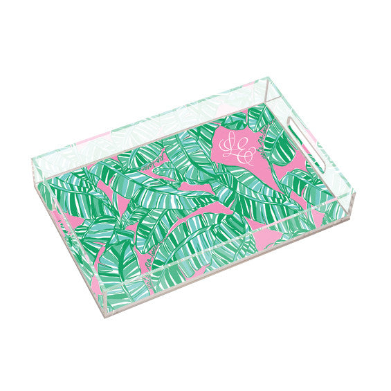 Lilly Pulitzer Personalized Large Tray - Let's Go Bananas - lifeguard-press