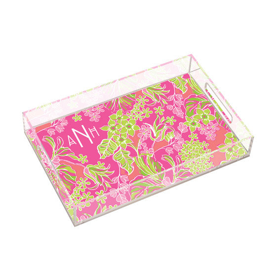 Lilly Pulitzer Personalized Large Tray - Luscious - lifeguard-press
