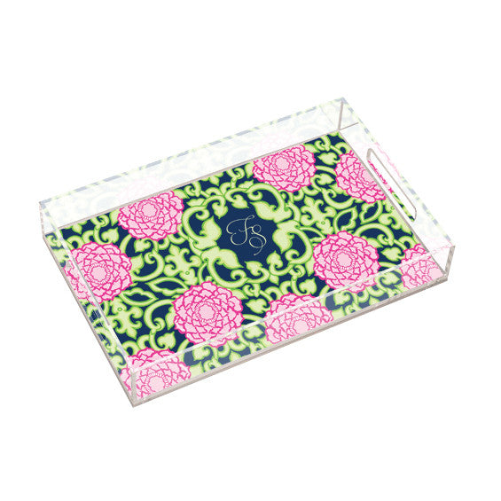 Lilly Pulitzer Personalized Large Tray - Private Property - lifeguard-press