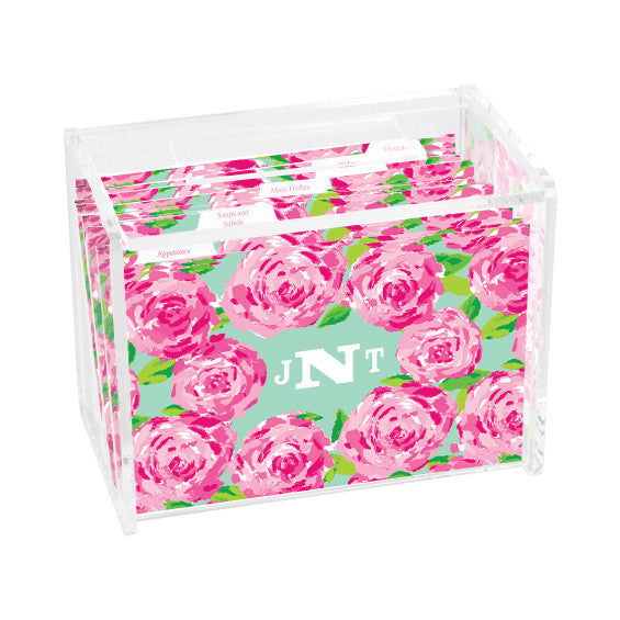 Lilly Pulitzer Personalized Recipe Box - First Impression - lifeguard-press - 1