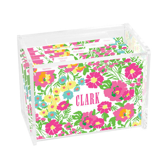 Lilly Pulitzer Personalized Recipe Box - Garden By the Sea - lifeguard-press - 1