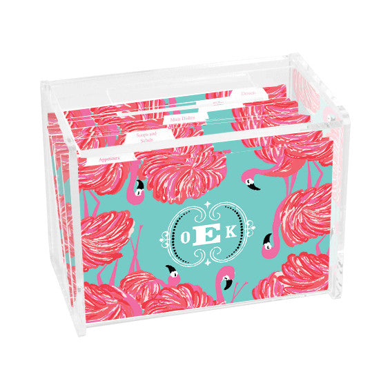 Lilly Pulitzer Personalized Recipe Box - Gimme Some Leg - lifeguard-press - 1