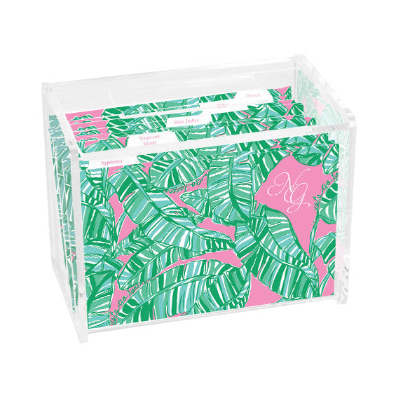 Lilly Pulitzer Personalized Recipe Box - Let's Go Bananas - lifeguard-press - 1