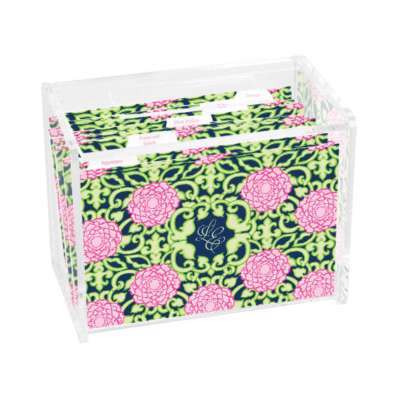 Lilly Pulitzer Personalized Recipe Box - Private Property - lifeguard-press - 1
