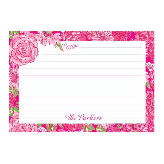 Lilly Pulitzer Personalized Recipe Box - Between the Lines - lifeguard-press - 2