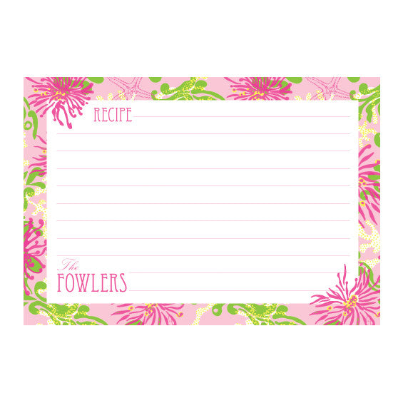Recipe Box - Lilly Pulitzer Personalized Recipe Box - Dirty Shirley