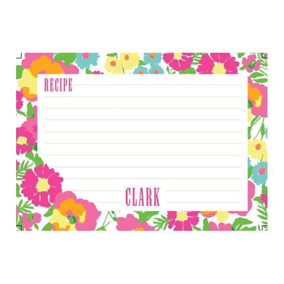 Lilly Pulitzer Personalized Recipe Box - Garden By the Sea - lifeguard-press - 2