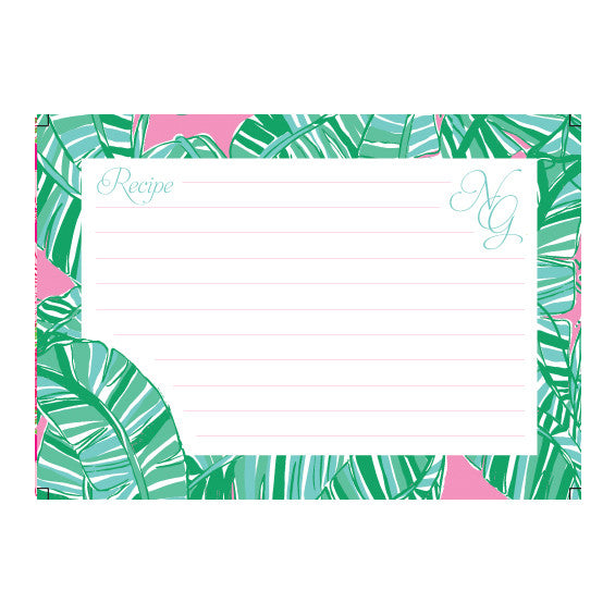 Lilly Pulitzer Personalized Recipe Box - Let's Go Bananas - lifeguard-press - 2