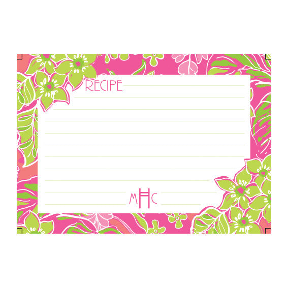 Lilly Pulitzer Personalized Recipe Box - Luscious - lifeguard-press - 2
