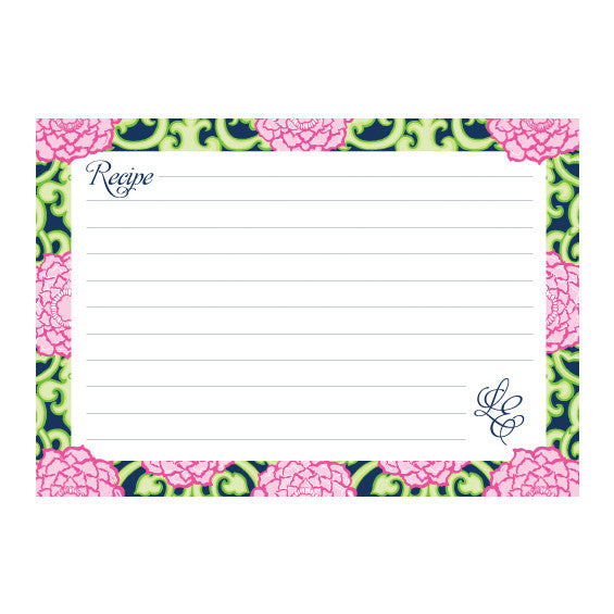 Lilly Pulitzer Personalized Recipe Box - Private Property - lifeguard-press - 2
