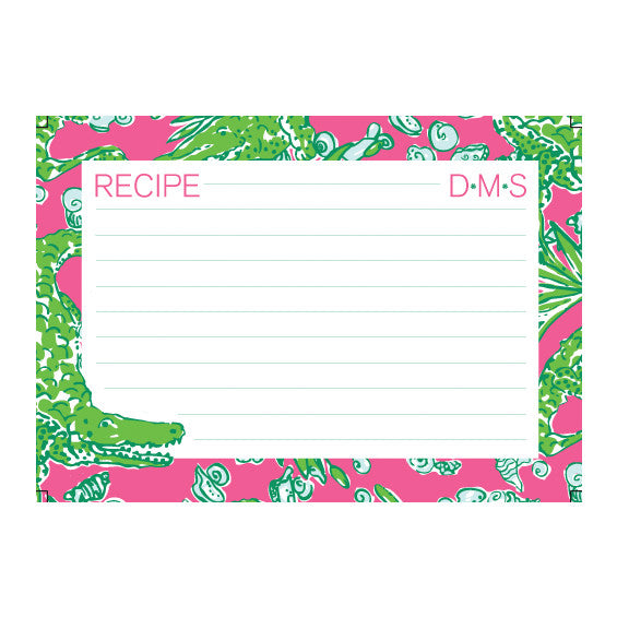 Lilly Pulitzer Personalized Recipe Box - See You Later - lifeguard-press - 2