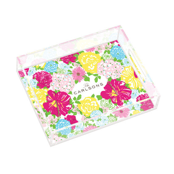 Lilly Pulitzer Personalized Small Tray - Heritage Floral - lifeguard-press