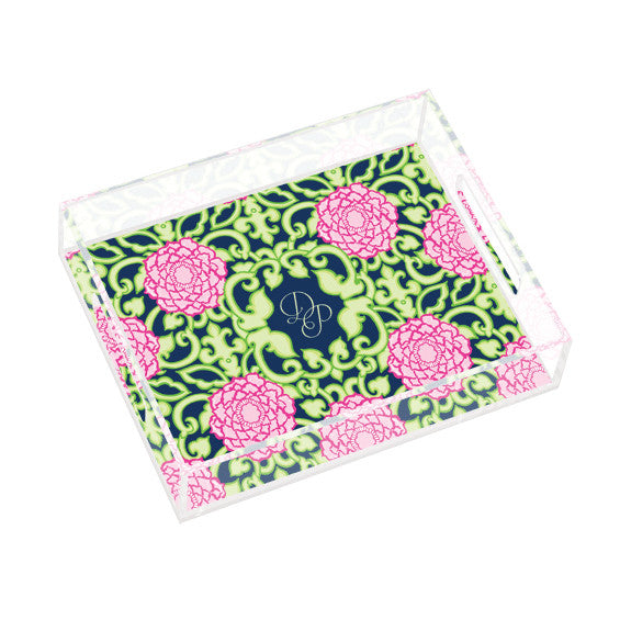 Lilly Pulitzer Personalized Small Tray - Private Property - lifeguard-press