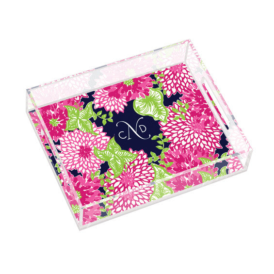 Lilly Pulitzer Personalized Small Tray - White Zin - lifeguard-press
