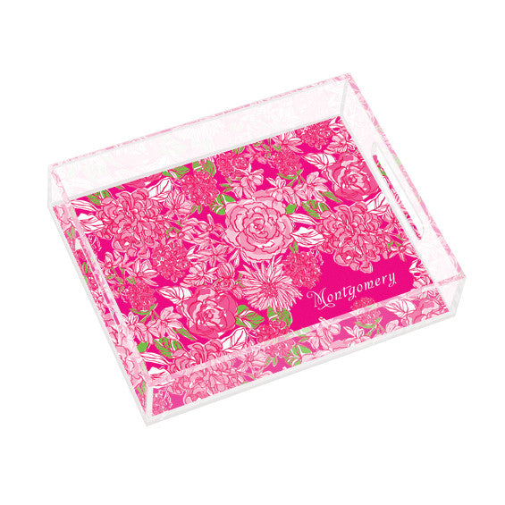 Lilly Pulitzer Personalized Small Serving Tray - Between the Lines - lifeguard-press