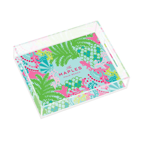 Lilly Pulitzer Personalized Small Tray - Checking In - lifeguard-press