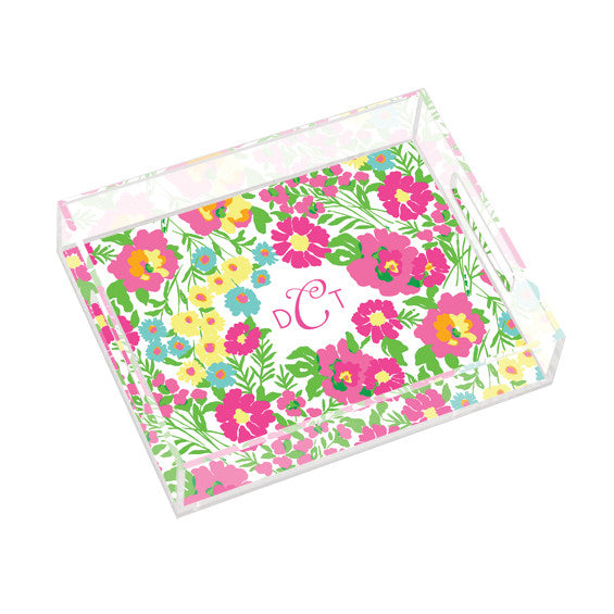Lilly Pulitzer Personalized Small Tray - Garden by the Sea - lifeguard-press