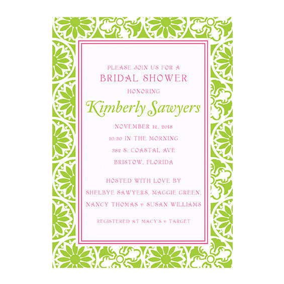 Lilly Pulitzer Personalized Invitations - Winter Playground Green - lifeguard-press