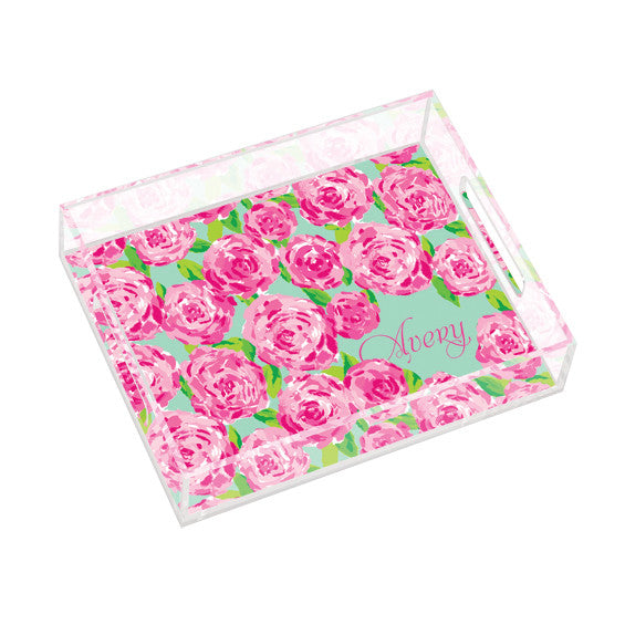 Lilly Pulitzer Personalized Small Tray - First Impression - lifeguard-press