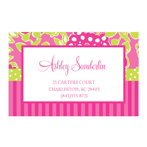Lilly Pulitzer Personalized Stickers - Bloomers - lifeguard-press
