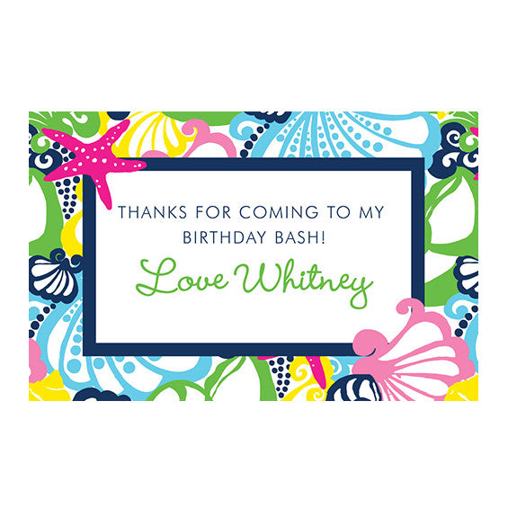 Lilly Pulitzer Personalized Stickers - Chiquita Bonita - lifeguard-press
