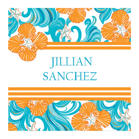 Lilly Pulitzer Personalized Stickers - Do the Wave - lifeguard-press