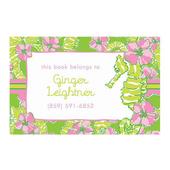 Lilly Pulitzer Personalized Stickers - Floaters - lifeguard-press