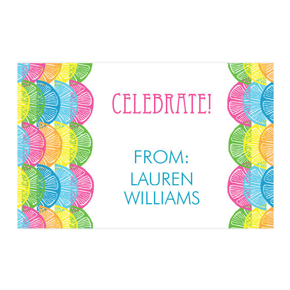 Lilly Pulitzer Personalized Stickers - However You Slice It - lifeguard-press