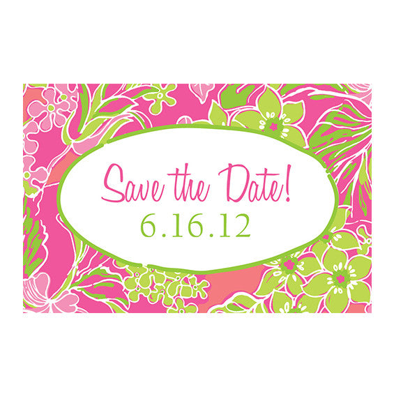 Lilly Pulitzer Personalized Stickers - Luscious - lifeguard-press