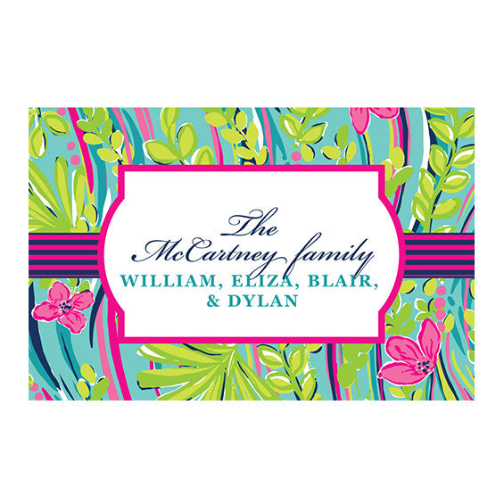 Lilly Pulitzer Personalized Stickers - Nice to See You - lifeguard-press