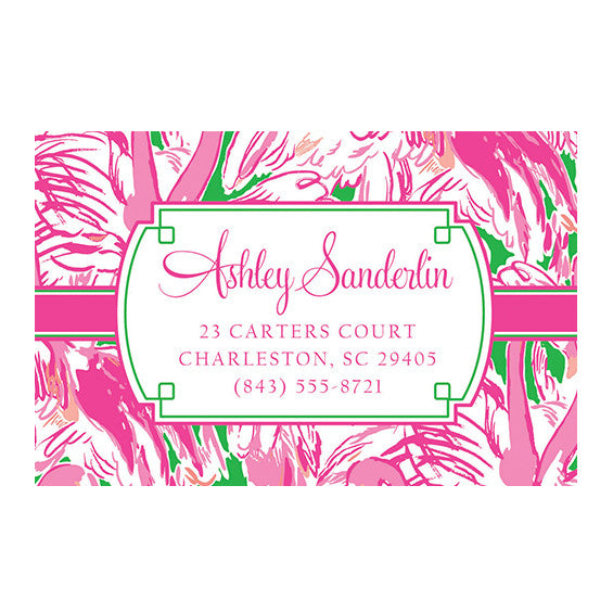Lilly Pulitzer Personalized Stickers - Pink Colony - lifeguard-press