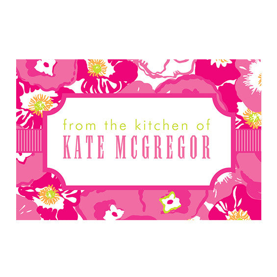 Lilly Pulitzer Personalized Stickers - Scarlet Begonia - lifeguard-press