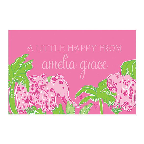 Lilly Pulitzer Personalized Stickers - Taboo - lifeguard-press