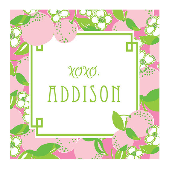 Lilly Pulitzer Personalized Stickers - Tootie Fruity - lifeguard-press