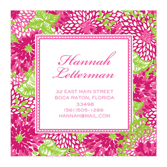 Lilly Pulitzer Personalized Stickers - White Zin - lifeguard-press