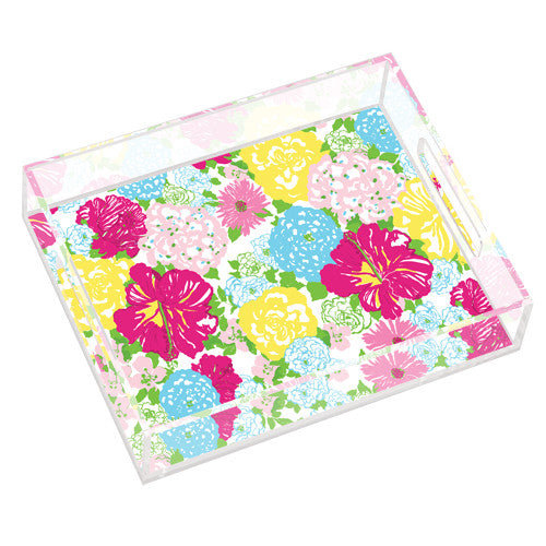Lilly Pulitzer Small Tray - Heritage Floral - lifeguard-press